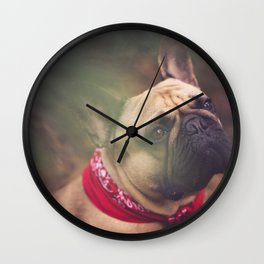 Lenny the Frenchie Wall Clock