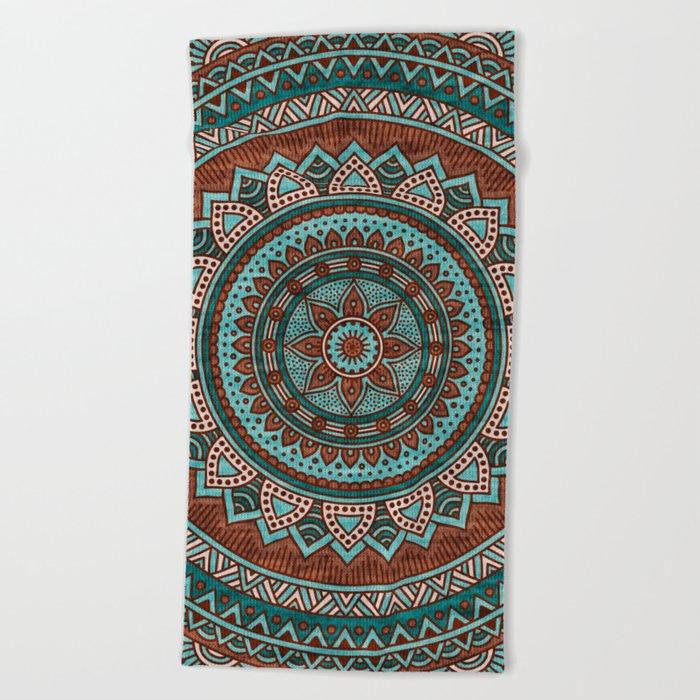 Hippie mandala 50 Beach Towel