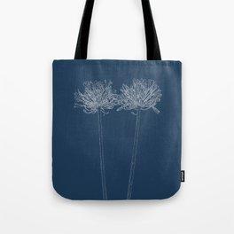 Agapanthus Blueprint Tote Bag