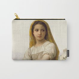 """William-Adolphe Bouguereau """"Young girl"""" Carry-All Pouch"""