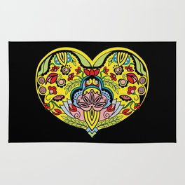 Enchanted   Heart Rug