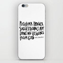 peculiar travel suggestions - kurt vonnegut iPhone Skin