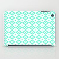 valar morghulis iPad Cases featuring Cyan Diamonds by beatrice