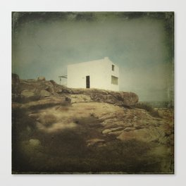 Once Upon a Time a Lonely House Canvas Print