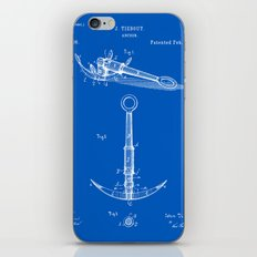Anchor Patent - Blueprint iPhone & iPod Skin