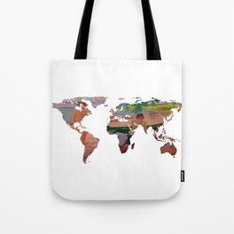 World Map Silhouette - Undressing at The Beach Tote Bag