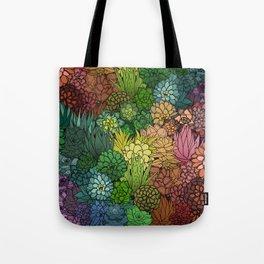 Succulent Garden Rainbow Tote Bag