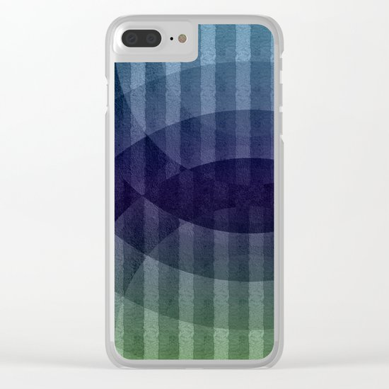 Geometric abstract BG Clear iPhone Case