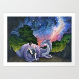 Starry Embrace Art Print