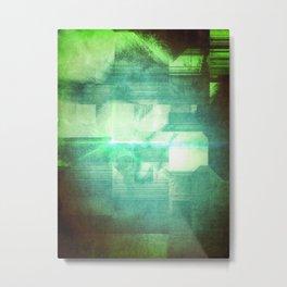 green platine Metal Print