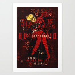 Trigun vash the stampede Art Print