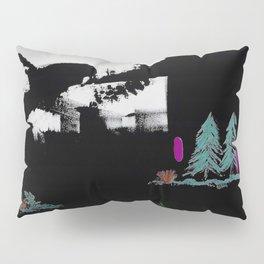 Through The Trees. Trees, Birds, Abstract, Black, White, Jodilynpaintings Pillow Sham