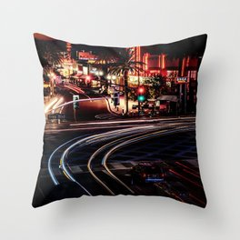 The Red Lights City (Color) Throw Pillow