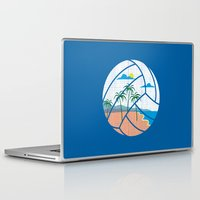 volleyball Laptop & iPad Skins featuring Beach Volleyball by Erik Sandi Satresa