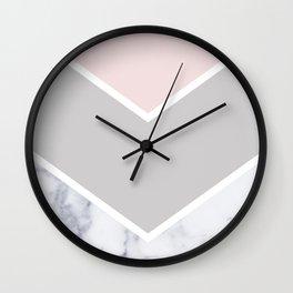 Scandinavian Marble Blush Gray Wall Clock