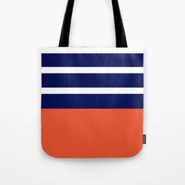 Summer Patio Perfect, Adobe Orange, White & Navy Tote Bag