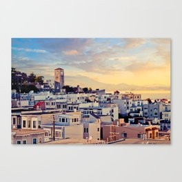 San Francisco North Beach Sunset Fine Art Print  • Travel Photography • Wall Art Canvas Print