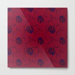 Dark Red Watermelon Metal Print