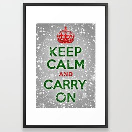 Keep Calm and Carry On Framed Art Print