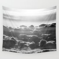 poetry Wall Tapestries featuring Clouds and Sky poetry by Stop4Design