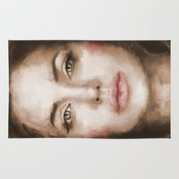 angelina jolie Area & Throw Rugs featuring Jolie by Dnzsea