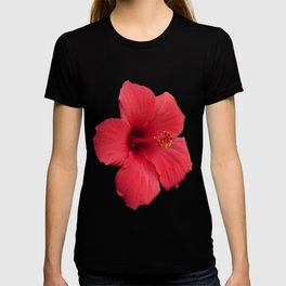 Stunning Red Hibiscus Flower T-shirt
