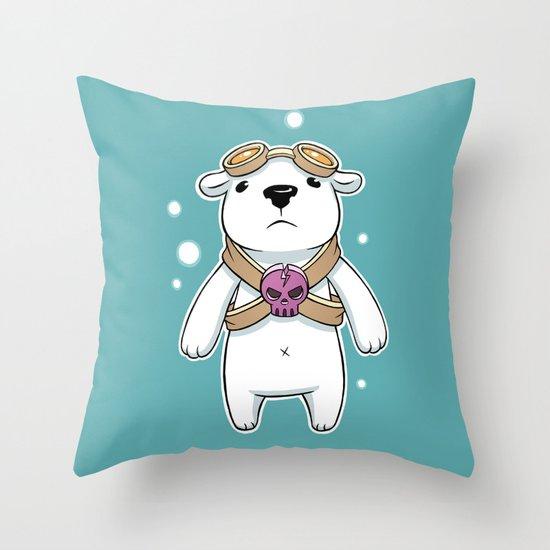 Polar Pilot Throw Pillow
