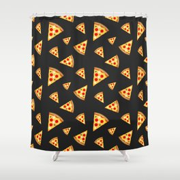 Cool and fun pizza slices pattern Shower Curtain