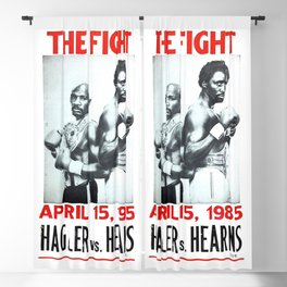 Boxing and Boxers: Hagler vs Hearns Blackout Curtain