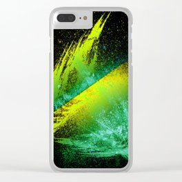 Vivid Spray Paint Lime Greens Clear iPhone Case