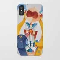 sailormoon iPhone & iPod Cases featuring Crying Sailor Moon by Claudio Bandoli