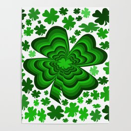 Lucky 4 Leaf Clover Poster