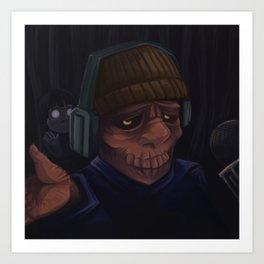 Zombie Youtuber Art Print