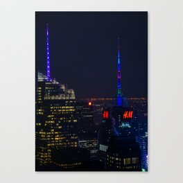 NYC Colored Lights Canvas Print