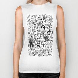 Things 2 - black and white Biker Tank