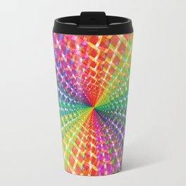 Colorful mosaic pattern design artwork- colorful christmas gifts- pixel art Travel Mug