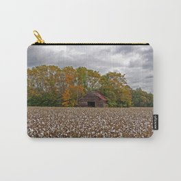 Old Barn in a Cotton Field - Wide Angle Carry-All Pouch