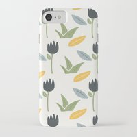 floral pattern iPhone & iPod Cases featuring Floral Pattern by Mark Conlan