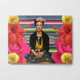 Frida Kahlo Folclore Metal Print