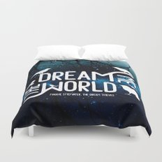 Dream me the world v2 Duvet Cover