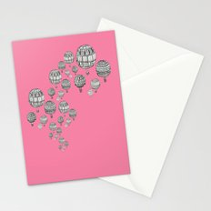 balloons in the pink Stationery Cards