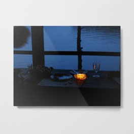 Butter Candle on Golden Pond  Metal Print