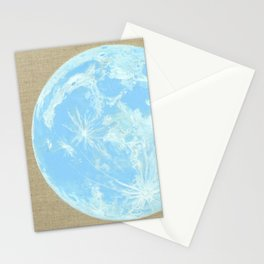 Moon Portrait 4, Blue Moon Stationery Cards