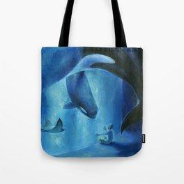 A midnight aquarium Tote Bag