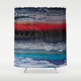 Alien terrain Shower Curtain