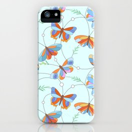 Insect art pattern iPhone Case