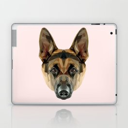 German Shepherd // Pastel Pink Laptop & iPad Skin
