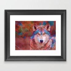 Forest Wolf Framed Art Print