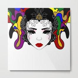 Geisha design Metal Print