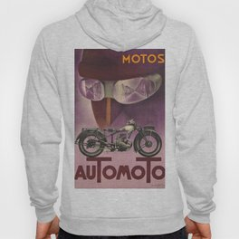 1930 Vintage Art Deco Advertising Poster Automoto Motos Bicycles Motorcycles Version 2 Hoody